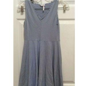 435 Matilda Jane Dress Girls' 12 Blue White Stripe